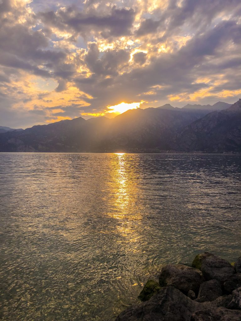 Gardasee sunset sonnenuntergang